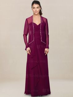 mother of the bride dress_Berry