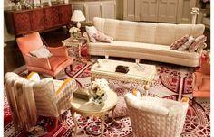 great gatsby movie set design - daisy buchanan sitting room