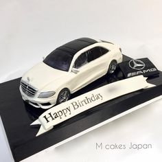 """Mercedes-Benz S Class Autokuchen! - Torten etc. Carros Mercedes Benz, Mercedes Benz S, Mercedes S Class, Mercedes Torte, Mechanic Cake, Car Cakes For Boys, Bithday Cake, Cake Name, Benz S Class"