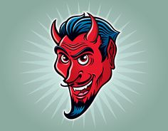 """Check out new work on my @Behance portfolio: """"Wicked Smiling Devil""""…"""