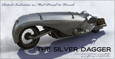 "Fairly cool concept by Nick Carver.  ""The Silver Dagger""  Nick wanted to design a motorbike that was inspired by dueling pistols and ceremonial daggers, I'd say he succeeded.  What do you think?"