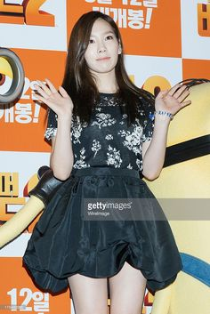 Taeyeon of South Korean girl group Girls' Generation attends during 'Despicable Me 2' press conference at the CGV on September 4, 2013 in Seoul, South Korea. The film will open on September 12, in South Korea.