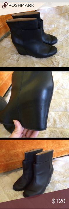 Margiela MM6 wedge boots Super gorgeous and avant garde! See pics for condition Maison Martin Margiela Shoes Ankle Boots & Booties