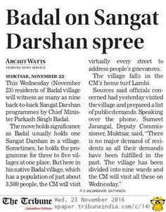 Parkash Singh Badal on Sangat Darshan spree #AkaliDalinNews