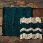 Wavy Chevron Crochet Dishcloth ~ free pattern ᛡ