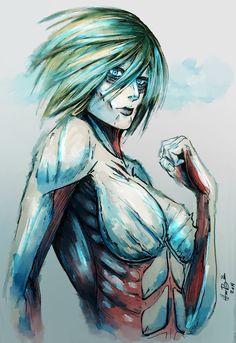 Attack on Titan Female Titan Armin, Levi X Eren, Manga Anime, Anime Art, Tokyo Ghoul, Christa Renz, Snk Annie, Female Titan, Annie Leonhart