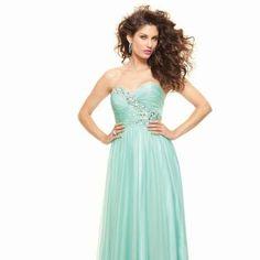 mint prom dress <3