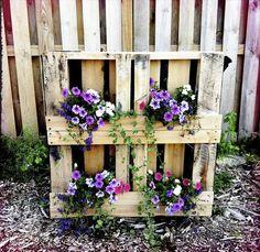 Wooden Pallet Flower Garden