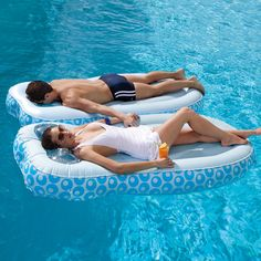 Two pool floats in one! Dual sided Swimming pool float. Relax already!