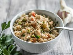 This Chimichurri Chicken and Rice is a bright and vibrant summer meal that cooks in just one pot to make dinner fast and easy. BudgetBytes.com