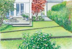 Dvougenerační zahrada s červeno-leaved škumpy