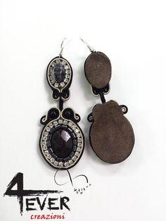 Orecchini soutache Black/Soutache earrings Black   Etsy Soutache Earrings, Drop Earrings, Pocket Watch, Jewerly, Beige, Lace, Sexy, Accessories, Fashion