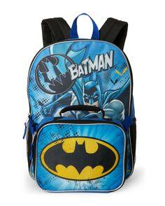 ced3dbc281 Fast Forward Batman Backpack   Lunchbox Famous Designer