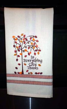 Thanksgiving kitchen towel