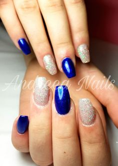 Blue and sparkle