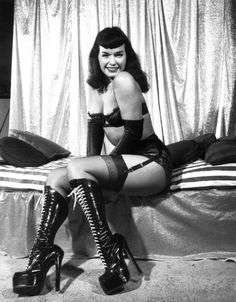 Bettie with boots