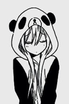 Meet your Posher, Kawaii Kawaii Chibi, Kawaii Girl, Kawaii Anime, Manga Anime, Anime Art, Panda Wallpapers, Panda Love, Anime Sketch, Manga Drawing