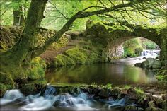 Robbers Bridge, Exmoor, Somerset, England by Robert Harding Life Is Beautiful, Beautiful Places, Travel Around The World, Around The Worlds, Bristol Channel, Somerset England, What A Wonderful World, Beautiful Landscapes, Wonders Of The World
