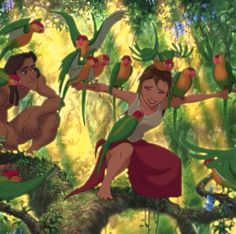 Tarzan and Jane #disney #tarzan