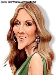 Celine Dion international singer and mega-star from Quebec (Canada)