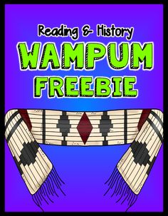 Thanksgiving: Wampum #FREEBIE #Teach123