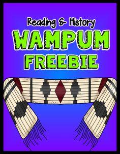 Thanksgiving: Wampum #FREEBIE #Teach123