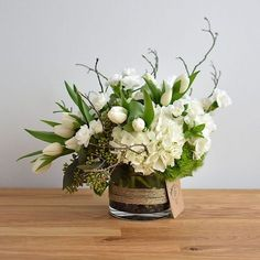 Send the White Garden bouquet of flowers from Hidden Door Floral Studio in Torrance, CA. Local fresh flower delivery directly from the florist and never in a box! White Floral Arrangements, Wedding Flower Arrangements, Flower Centerpieces, Wedding Flowers, Table Centerpieces, Fresh Flower Arrangement, Christmas Floral Arrangements, Table Arrangements, Bouquet Wedding
