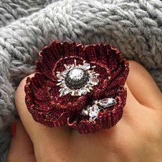 Ruby red 'Opium' ring. Is there anything more perfect than a single #poppy flower? #sybaritejewellery