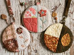 Round pouches by PatchworkPottery