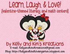 50% off for Markdown Monday! Learn, Laugh, & Love Valentine-Themed Literacy and Math Centers are great ways to practice academic skills in a fun and social way!