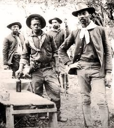 "Black cowboys of the late 1800s. From the plantations of the South to the plains of Texas, black cowboys made their mark on the subduing of the vast western territories, keeping the peace with indigenous peoples, ""putting out fires"" as buffalo soldiers sent to hot spots, and later as cowboys in America's cattle industry and -- gaining fame and glory in the rodeos of our nation."