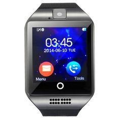 "Q8 1.54"" TFT GSM Smart Watch w/ Remote Camera, Compass - Black #men #watch #fashion #style #women"