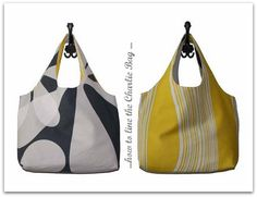 Charlie-Tasche Bag Tutorial in German but easy to follow.