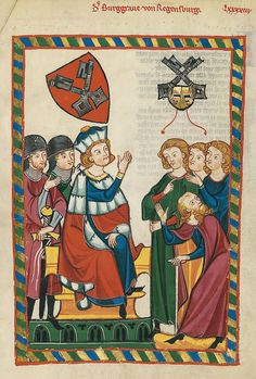 Codex Manesse, UB Heidelberg, Cod. Pal. germ. 848, fol. 318r: Der Burggraf von Regensburg