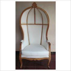 Canopy Chair In Mahogany Natural   Tiffany French Interiors