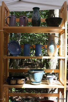 Pottery by Sonya Meeker - Functional Pottery - mailto:Sonya.meek... displayed and for sale at Annmarie Sculpture Garden & Arts Center. The garden is located in scenic Solomons, Maryland, where the Patuxent River meets the Chesapeake Bay.