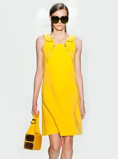 yellow dress vest zipper