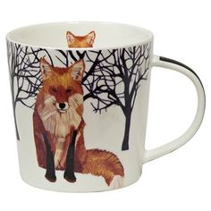 Stash Tea Winter Fox Mug in Gift Box : holiday