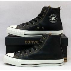 Converse Leather Sneakers Hi Black
