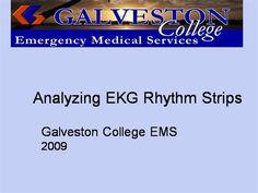 Analyzing EKG Rhythms by rprue via authorSTREAM Emergency Medical Services, Power Points, Presentation, Electrical Outlets