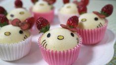 Hello Kitty strawberry man  Steam Cakes★ ハローキティ「ICHIGOMAN」蒸しパン