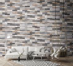 Small Tiles | LISBON | Glazed Porcelain, 6x25 cm, Matt #egeseramik #perfectbeauty  #ceramic  #tiles #design #homedesign #smalltiles Brick Look Tile, Small Tiles, Lisbon, Living Area, Outdoor Spaces, Porcelain, Indoor, House Design, Interior Design
