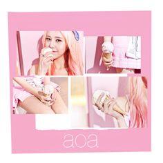 """aoa"" by hananwafa ❤ liked on Polyvore featuring kpop"