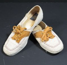 Tan Womens Brunswick Bowling Shoes Vintage 1970s Retro Rockabilly Oxfords by VintageCreekside on Etsy