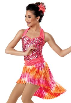 Sequin Tie-Dye Ruffle Dress -Weissman Costumes $45