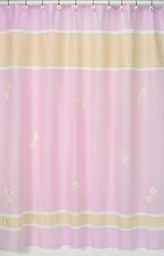 Superbe Pink Dragonfly Dreams Shower Curtain   Sweet Jojo Designs   Pink And Yellow  Shower Curtain