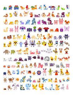 Pixelated Pokemon - First Generation
