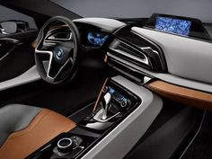 Design interior do i8 Concept Spyder, híbrido plug-in da BMW