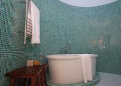 Mosaic tiling idea for bathroon