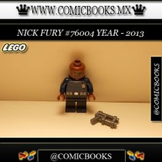Nick Fury from LEGO set #76004 You can buy this LEGO toy at: www.comicbooks.mx Also follow us on Instagram: comicbooks, sundaycomics and sportscards